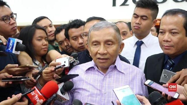 Politikus PAN Amien Rais menyebut dua syarat rekonsiliasi dengan kubu Jokowi-Ma'ruf Amin: ide-ide Prabowo dilaksanakan, dan pembagian kursi 55:45.