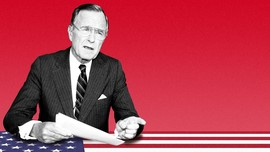 INFOGRAFIS: Kebijakan Kontroversial  George HW Bush
