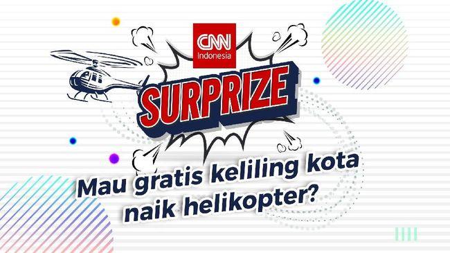 CNNIndonesia.com mengajak pembaca untuk menikmati pemandangan lanskap kota Jakarta dari atas helikopter secara gratis.