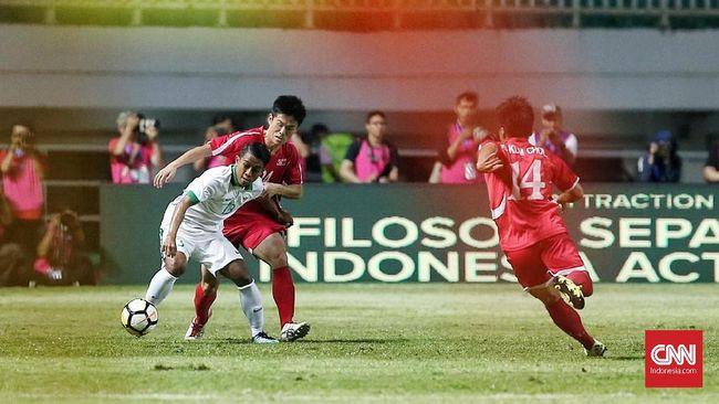 Timnas Indonesia masih berada di posisi juru kunci PSSI Anniversary Cup setelah mereka bermain imbang lawan Korea Utara.