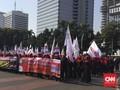 Massa Buruh Bubar, Jalan Medan Merdeka Kembali Dibuka