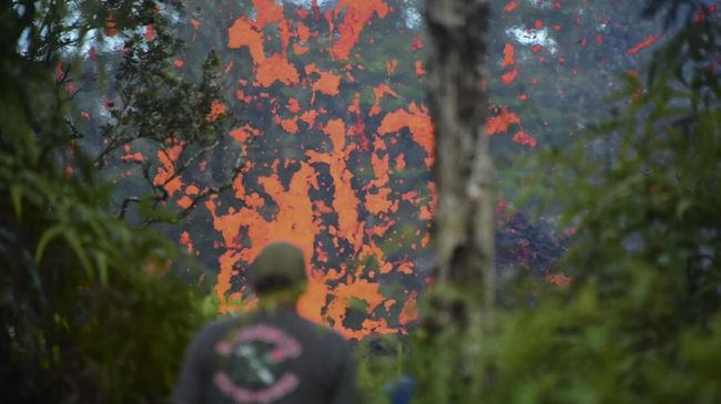 NASA merilis gambar aktivitas gempa bumi dan gunung berapi di kawasan Taman Nasional Gunung Berapi Hawaii yang dipantau radar.