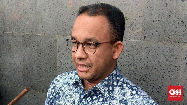 Gubernur Anies mengakhiri wawancara saat ditanya hasil survei Indo Barometer yang menyatakan Ahok sebagai Gubernur DKI paling berhasil atasi banjir Jakarta.