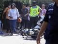 Pria Berjaket Ojek Online Ditangkap Saat Ambil Gambar Polisi