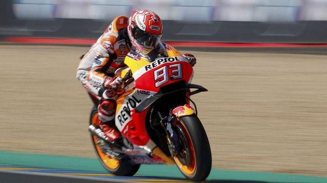 Marc Marquez makin kokoh di posisi puncak klasemen MotoGP 2018 usai memenangkan MotoGP Prancis di Sirkuit Le Mans, Minggu (20/5).
