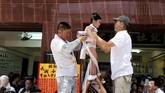 Bun Festival digelar sebagai ritual untuk mengusir wabah penyakit yang mematikan anak-anak kecil kala zaman Dinasti Qing.