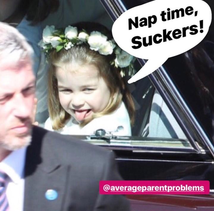 Foto-foto keluarga Pangeran William dan Kate Middleton di Royal Wedding dijadikan semacam ilustrasi masalah orang tua. Seperti apa ya?