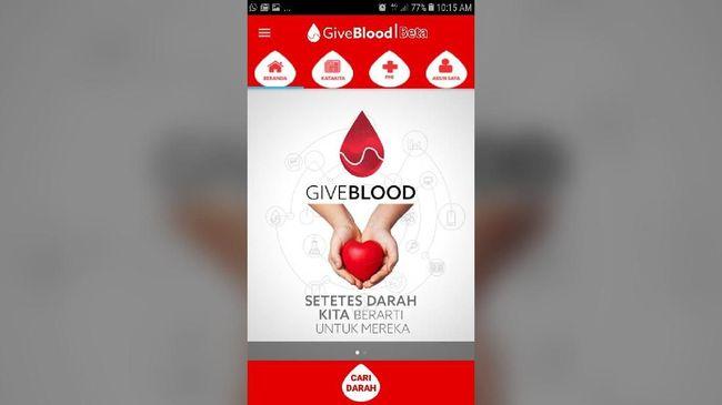 Komunitas Ahmadiyah melalui Give Blood Community menyiapkan aplikasi GiveBlood yang akan memudahkan pendonor darah untuk melakukan donor darah.