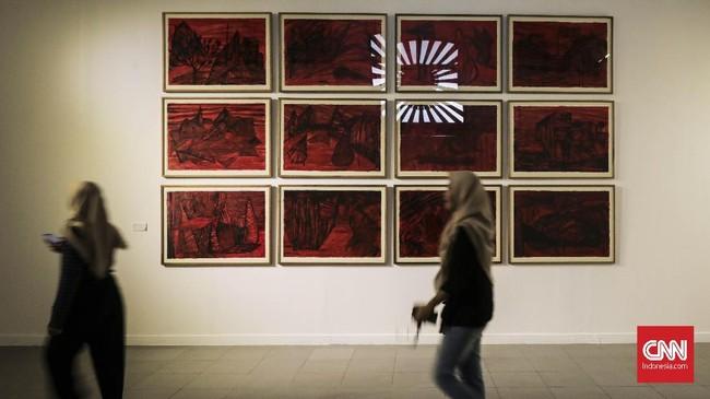 Seniman Hafiz Rancajale mengamati kondisi sekitar selama 20 tahun usai reformasi, dan menuangkannya dalam pemikiran seni untuk pameran 'Social Organism.'