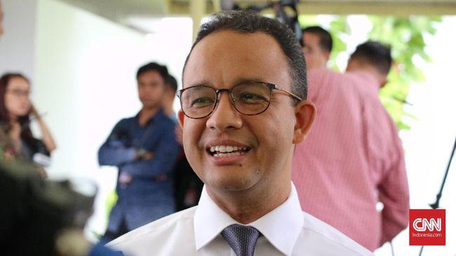 Gubernur DKI Jakarta Anies Baswedan hadir untuk menjelaskan revitalisasi Taman Ismail Marzuki, Jakarta yang ditolak oleh para seniman.