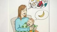 <p>Bahkan ketika menidurkan anak pun pikiran kita masih bermacam-macam. (Foto: Instagram/ab.bel)</p>