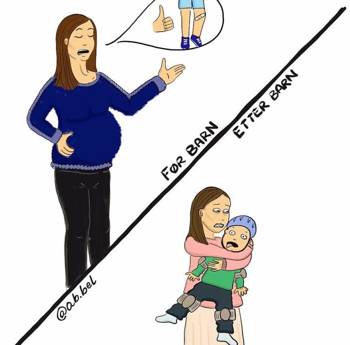 <p>Saat hamil kita mungkin berpikir akan jadi ibu yang santai. Tapi nyatanya saat si kecil sudah lahir, parnoan, terlalu khawatir, bahkan sedih bukan main ketika si kecil sakit bisa dialami. (Foto: Instagram/ab.bel)</p>