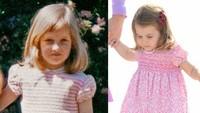 <p>Sama-sama pakai dress berwarna pink, apakah Diana Kecil dan Putri Charlotte terlihat lebih mirip? (Foto: Instagram @theroyalcourier)</p>