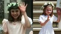 <p>Sedangkan yang ini disandingkan dengan foto sang bunda, Kate Middleton, saat kecil. (Foto: Instagram @theroyalcourier)</p>