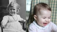 <p>Ini saat Putri Charlotte dan Ratu Elizabeth di usia yang sama. (Foto: Instagram @theroyalcourier)</p>