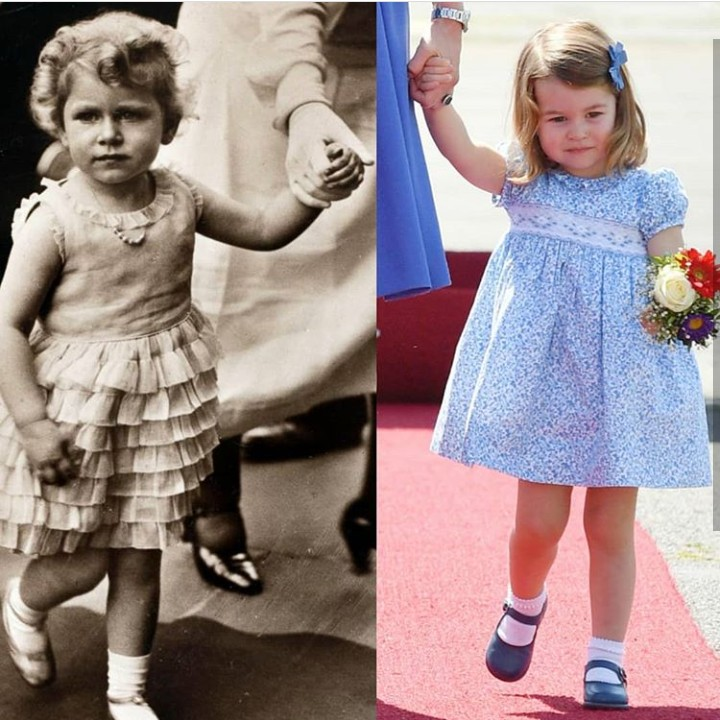 Bunda, lihat deh foto-foto ini. Foto Putri Charlotte disandingkan dengan ibu, nenek, dan nenek buyutnya. Lebih mirip siapa ya?