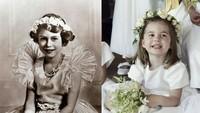 <p>Foto lain yang menyandingkan Putri Charlotte dan Ratu Elizabeth semasa kecil. (Foto: Instagram @theroyalcourier)</p>