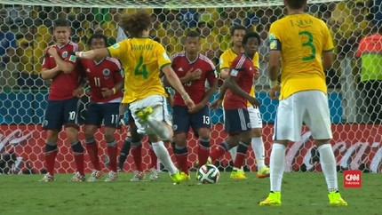 VIDEO: Gol 'Roket' David Luiz di Piala Dunia 2014