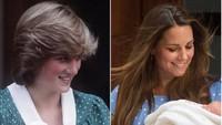 <p>Sama-sama pakai dress polkadot saat menggendong si kecil, Putri Diana dan menantunya, Kate Middleton, mirip banget ya.(Foto: Instagram/ @kristina.odoardi.royal.blog)</p>