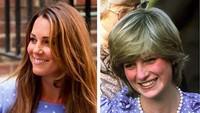 <p>Penampilan Kate ketika sedang hamil dibalut dress biru begini juga mirip mendiang ibu mertuanya ya, Bun?(Foto: Instagram/ @princessdianaandkate)</p>