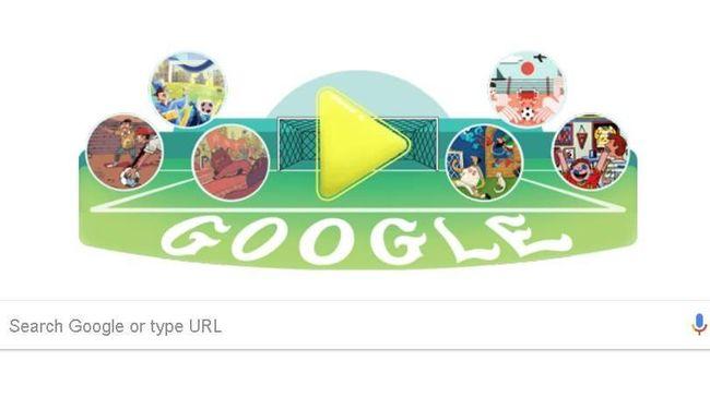 Google Doodle akan menampilkan ilustrasi sepak bola dengan 32 seniman dari 32 negara peserta Piala Dunia 2018.