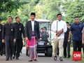 Jokowi dan Keluarga Salat Id di Kebun Raya Bogor