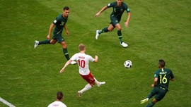 Duel Denmark vs Australia Berakhir Imbang di Babak Pertama