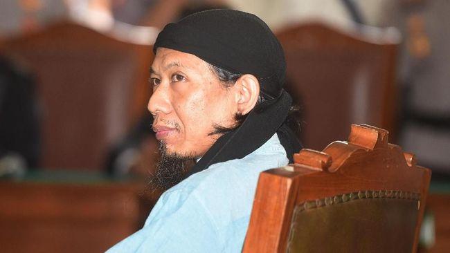 Pemimpin kelompok Jemaah Ansharut Daulah (JAD) itu menyatakan tidak mengajukan banding atas putusan hukuman mati.