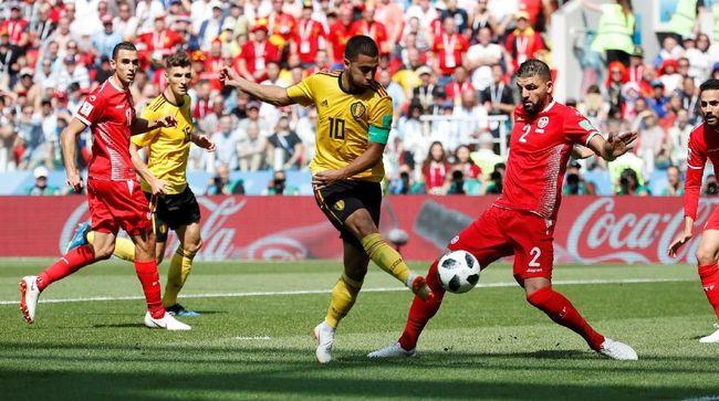 Pertandingan tidak seimbang terjadi saat Belgia mengalahkan Tunisia 5-2. Belgia memiliki amunisi yang terlalu banyak untuk bisa dihentikan Tunisia.