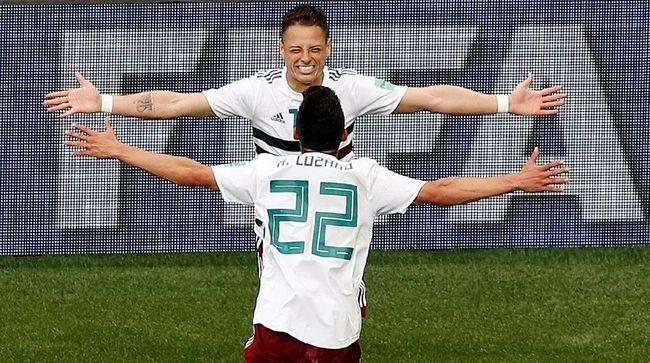 Timnas Meksiko menaklukkan timnas Korea Selatan 2-1 pada laga Grup F Piala Dunia 2018 di Stadion Kazan Arena, Sabtu (23/6).