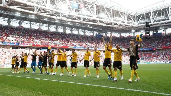 Timnas Belgia mendapatkan kemenangan kedua di Piala Dunia 2018 dengan mengempaskan Tunisia 5-2 di Stadion Spartak, Moskow.
