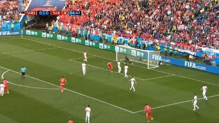 VIDEO: Cuplikan Gol Mitrovic ke Gawang Swiss di Babak Pertama