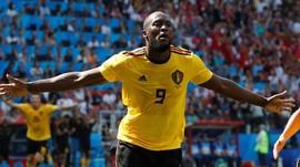 Babak Pertama: Lukaku Dua Gol, Belgia Unggul 3-1 atas Tunisia