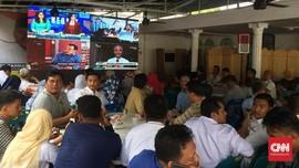 Takbir dan 'Djarot Pulang Kampung' di Posko Edy Rahmayadi