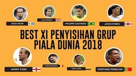 INFOGRAFIS: Tim Terbaik Fase Grup Piala Dunia 2018