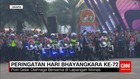 Atraksi Motor Patwal di HUT ke-72 Bhayangkara