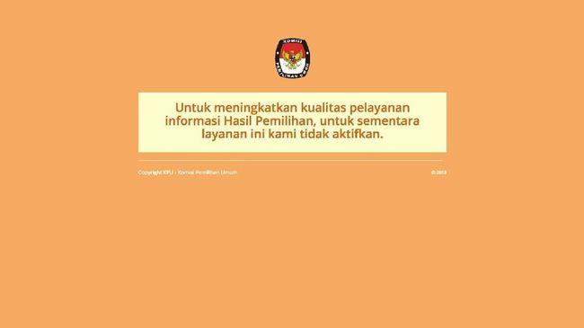KPU Sebut Situs Diserang Pihak yang Tak Senang Hasil Pilkada