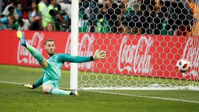 Para netizen 'menertawakan' kiprah David De Gea dalam menjaga gawang timnas Spanyol di gelaran Piala Dunia 2018 setelah tim itu disingkirkan Rusia di 16 besar.