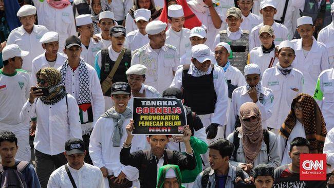 Massa Aksi 67 menagih Bareskrim Polri terkait tindak lanjut pengusutan kasus-kasus dugaan penistaan agama yang dianggap mangkrak.