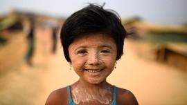 FOTO: Thanaka, 'Pelindung' Rohingya dari Sinar Matahari