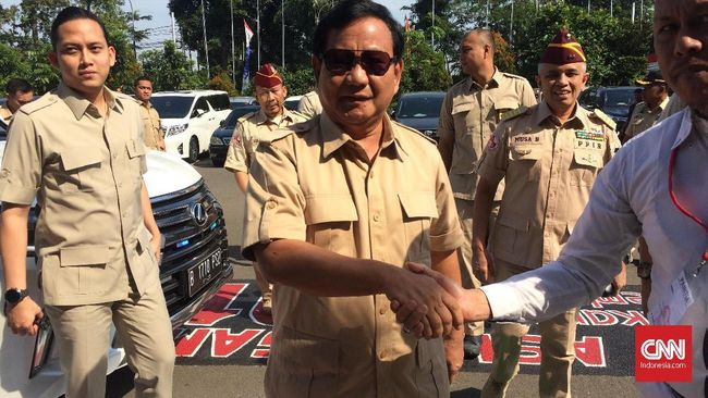 Purnawirawan Kopassus Dukung Prabowo di Pilpres 2019