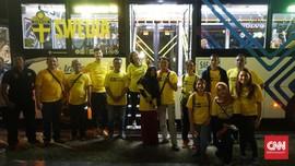 Bus TransJakarta 'Disulap' Jadi Bus Pendukung Swedia