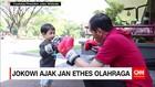 Presiden Jokowi Ajak Cucu Berlatih Tinju dan Sepak Bola