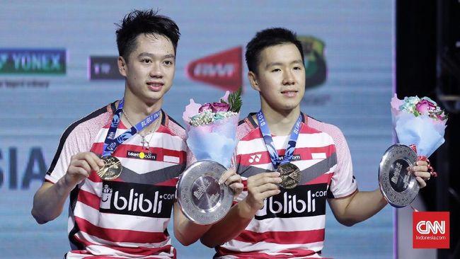 Marcus Fernaldi Gideon/Kevin Sanjaya Sukamuljo sangat senang karena bisa menaklukkan keangkeran Istora Senayang dengan merebut Indonesia Open 2018.