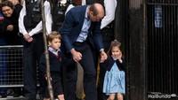 <p>Saat melihat Pangeran Loius yang baru lahir, Putri Charlotte memakai pita biru. (Foto: Getty Images)</p>