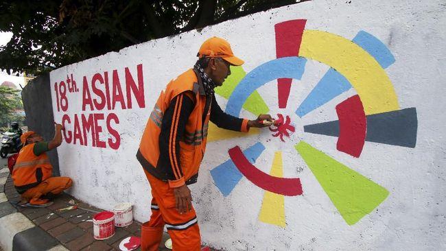 Anies Baswedan tak pernah memerintahkan petugas PPSU membuat Mural Asian Games. Anies menyebut hal itu merupakan cara PPSU menyalurkan kreativitas.