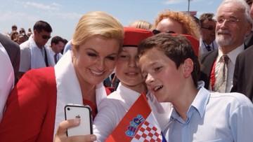 Potret Keceriaan Presiden Kroasia di Tengah Anak-anak