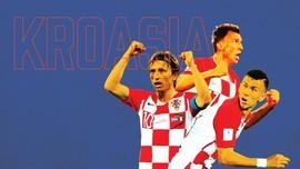 INFOGRAFIS: Perjalanan Kroasia ke Final Piala Dunia 2018