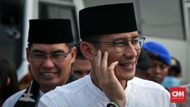 Usai dikritik akibat bendera bambu, Wakil Gubernur DKI Jakarta Sandiaga Uno mengajukan gencatan senjata dengan netizen saat Asian Games 2018.