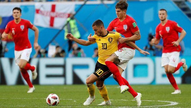 Timnas Belgia meraih peringkat ketiga di Piala Dunia 2018 setelah mengalahkan Inggris 2-0 di Stadion Saint Petersburg, Sabtu (14/7).